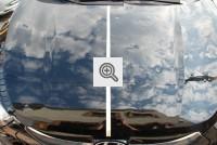 Hyundai po częściowym usunięciu skutków gradobicia (dla porównania)